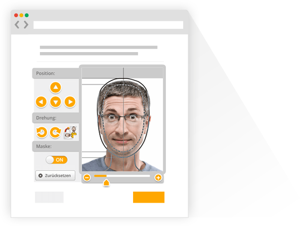 usphoto's Online Passport Photo Generator for creating biometric passport pictures